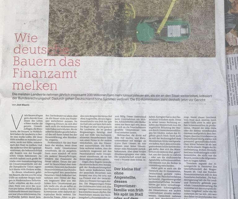 Finanzamt macht Biogas profitabel