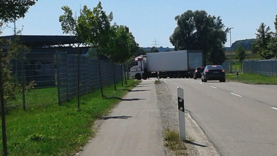 Falschfahrer zum Lidl-Logistikzentrum