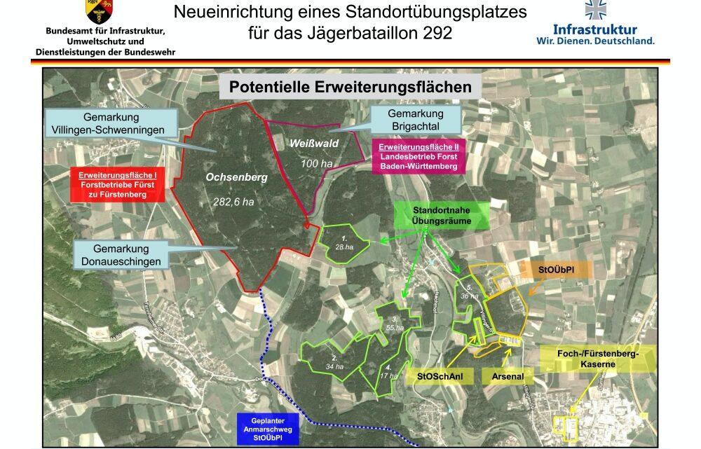 BUND Stellungnahme zum geplanten Standortübungsplatz im Weißwald