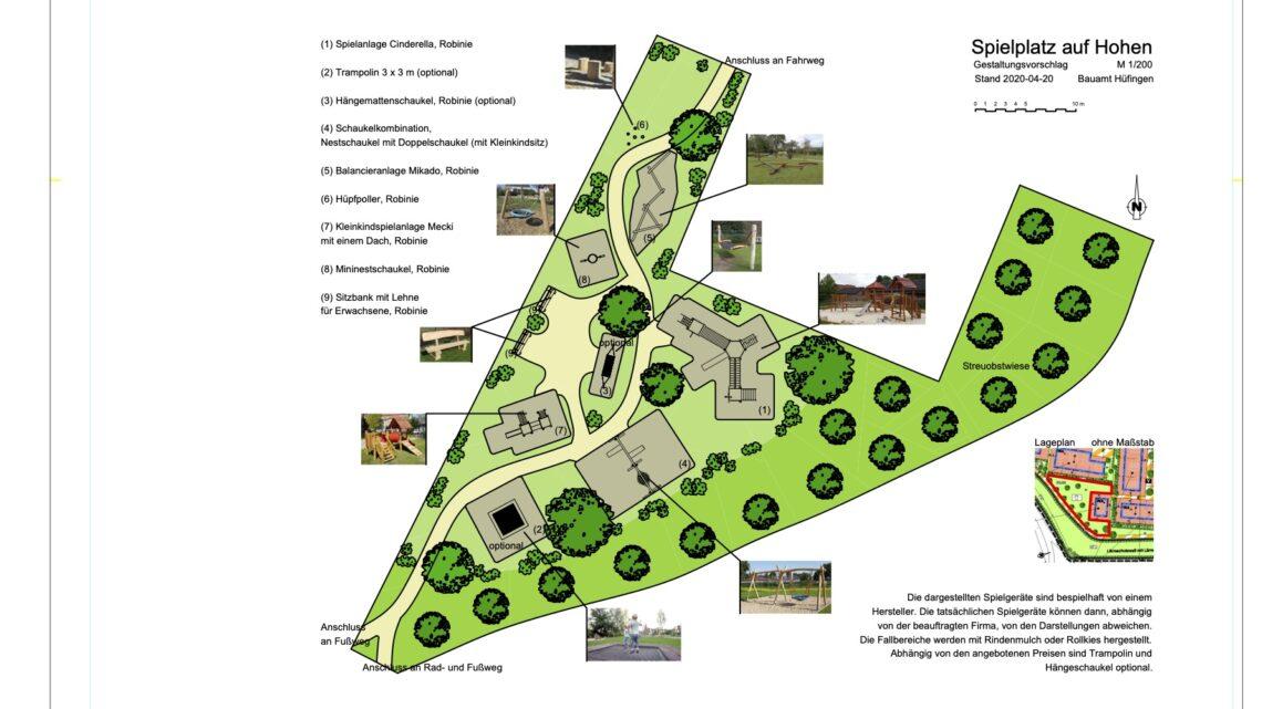 Der Spielplatz im Baugebiet Auf Hohen II